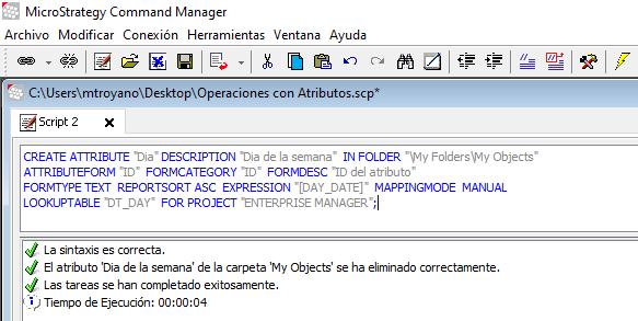 Crear atributos command manager