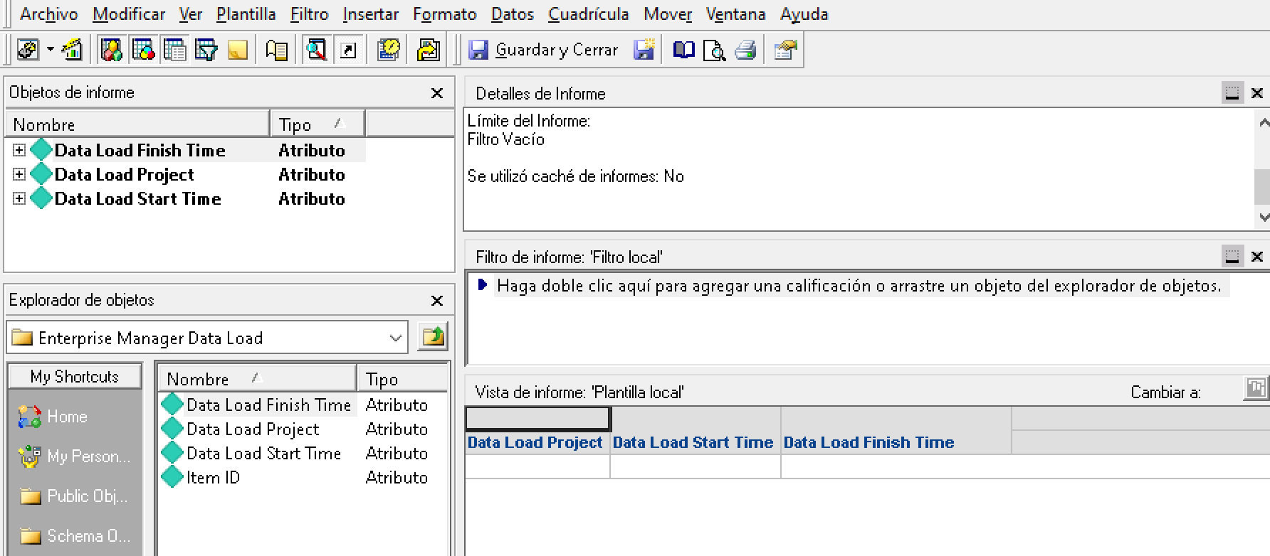 Enterprise Manager Data Load