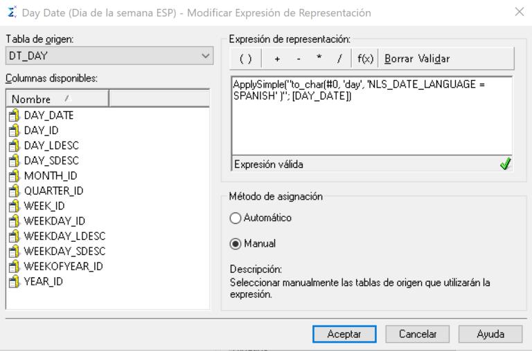 Función ApplySimple en MicroStrategy