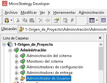 administrador de usuarios - microstrategy