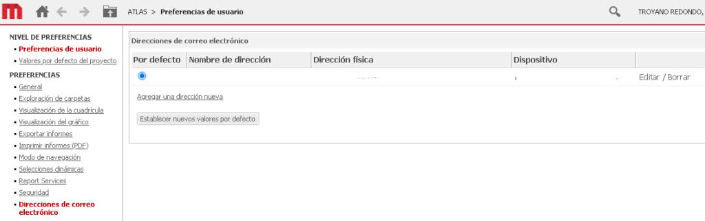 direcciones de correo electrónico - microstrategy