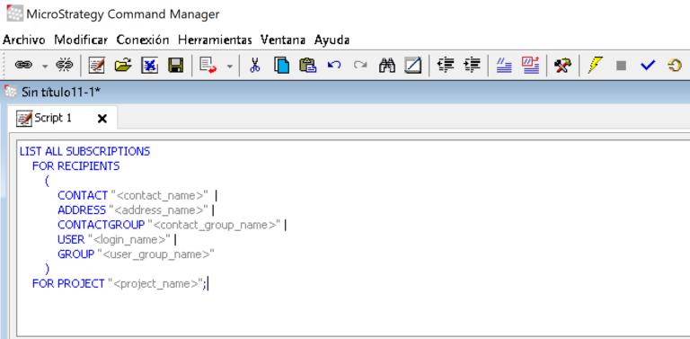 Administrar informes programados con Command Manager