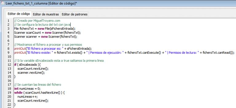 Procedimiento para leer un txt y usar los valores como entrada en Command Manager