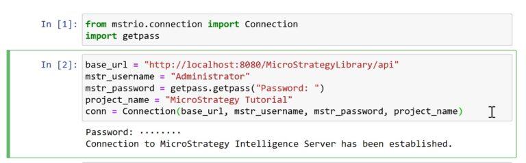 Conectar Python con MicroStrategy utilizando mstrio (API REST)