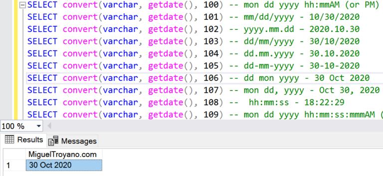 Trabajando con fechas en SQL Server