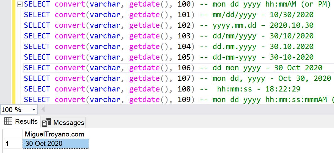 SQL Server convert date