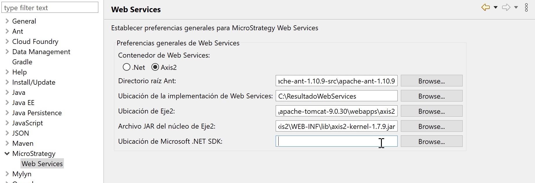 Instalar MicroStrategy Web Customization Editor en Eclipse