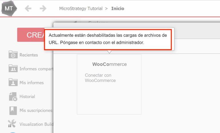 Habilitar cargas de archivos de URL en MicroStrategy