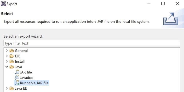 Exportar un proyecto Java