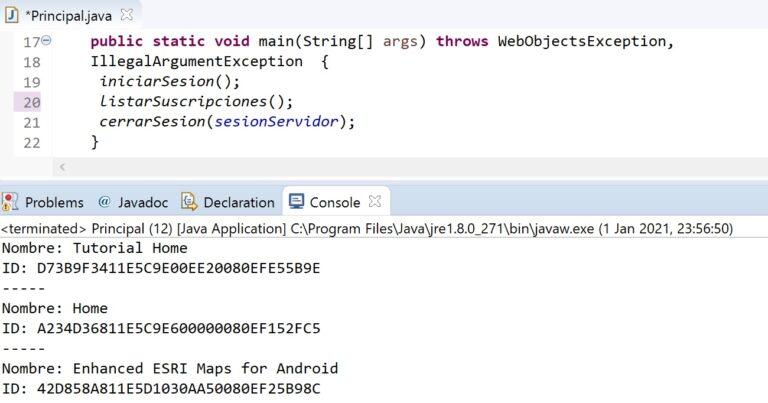 Listar suscripciones de MicroStrategy con Java