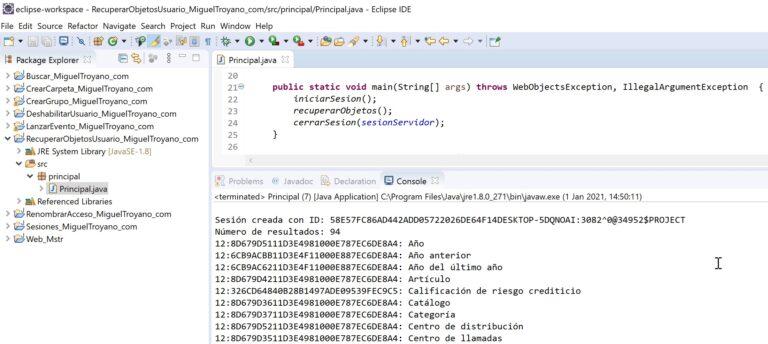 Recuperar SQL de un informe MicroStrategy con Java