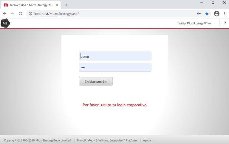 Personalizar la página de Login con MicroStrategy Web Customization Editor