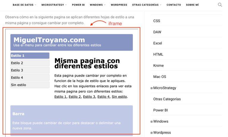 Incrustar IFRAME en WordPress